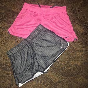 Nike Dri fit athletic shorts lot of 2 sz L 12-13